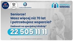 225051111 - numer telefonu dla Seniorów potrzebujących wsparcia